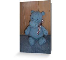Blue Hippo Greeting Card