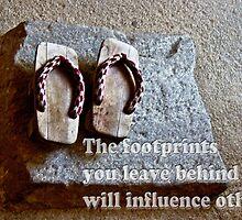 Footprints you leave behind  by GalleryThree