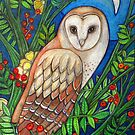 White Heart (Portrait of a Barn Owl) by Lynnette Shelley