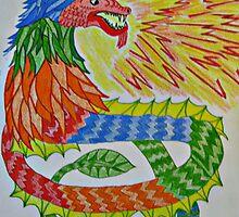 Rainbow SeaSerpent Dragon by Jane Neill-Hancock
