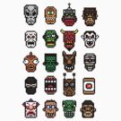 8-bit Head Collection 1 by KingZombie
