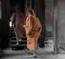 Monks - Angkor Wat by Jane  Earle Photography