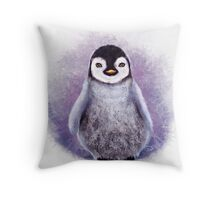 Penguin - Digital Painting by Tom Lopez Throw Pillow