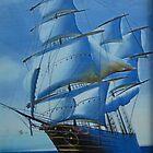 Blue Ship by AnkitaPopli
