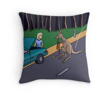 Kangaroo Jump-start Throw Pillow
