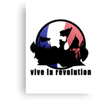 Vive la revolution Canvas Print