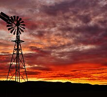 Mt Macedon, Windmill. by Kylie Mckay