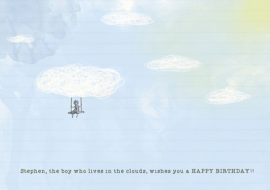 Stephen, the boy that lives in the clouds by tdisbury
