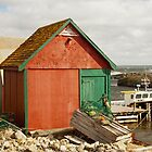 A Colorful Boat House in Nova Scotia by Robert Kelch, M.D.