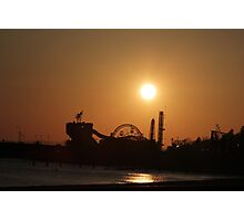 beach, rides, sunset Photographic Print