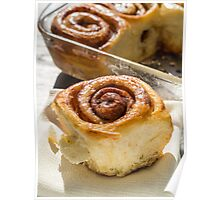 Fresh Homemade Cinammon Sticky Buns Poster