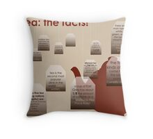 tea: the facts! Throw Pillow