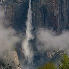 Upper Yosemite Falls, Clearing Spring Storm by photosbyflood