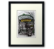 Montmartre 4 in colour Framed Print
