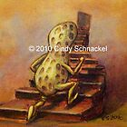 Peanut on Staircase by © Cindy Schnackel