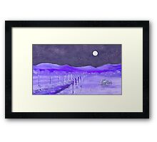 Cold Winter Night  Framed Print