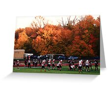 """Autumn Football with """"Dry Brush"""" Effect Greeting Card"""