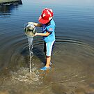 Best Fun Ever - Child Playing In Water by Debbie Oppermann