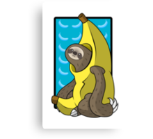 Banana Sloth Canvas Print