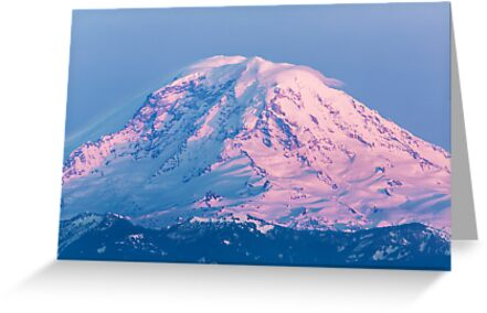 Sunset Reflections on Mount Rainier by Jim Stiles