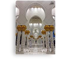 Zayed Grand Mosque Corridor Canvas Print