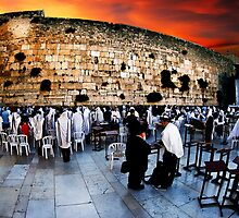 Wailing Wall, Old City, Jerusalem, Israel  by PhotoStock-Isra