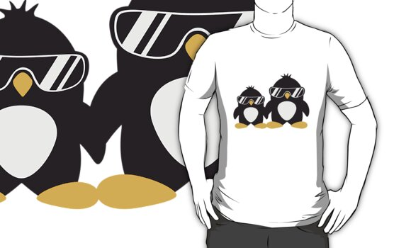 Cool Penguin Dad And Boy by Style-O-Mat