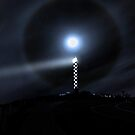 Moon Halo Over Bunbury lighthouse  by EOS20