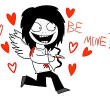Jeff The Killer - Valentines Card by NekoJack