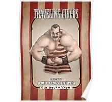 Circus Strongman Poster Traveling Circus Strongman
