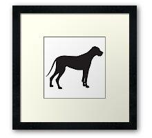 Great Dane Silhouette Framed Print