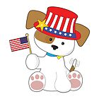 Puppy Patriotic by Maria Bell