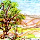 Foothills, 2 x 3 inches by Regina Valluzzi