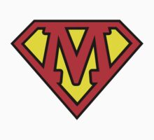 Superman Style Initial Vector (M) by Aaron Pacey