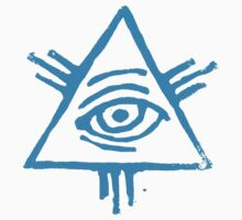 Eye of Providence in light blue by bloodnlipstick