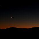 Venus Chasing the Moon Chasing the Sunset by WhiteLightPhoto