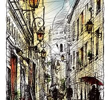 Montmartre 11 in colour by Tatiana Ivchenkova