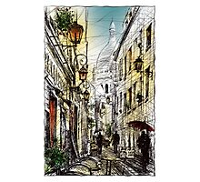 Montmartre 11 in colour Photographic Print