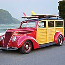 1937 Ford Woody Wagon by DaveKoontz