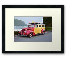 1937 Ford Woody Wagon Framed Print