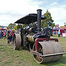 Steam roller, Steamfest, Sheffield, Tasmania, Australia by Margaret  Hyde