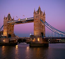 Tower Bridge at Night London by Suzanne Christian