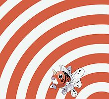 Pokemon - Seaking Circles iPad Case by Aaron Campbell