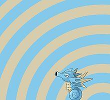 Pokemon - Seadra Circles iPad Case by Aaron Campbell