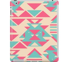 Modern Pink Turquoise Abstract Geometric Triangles iPad Case/Skin