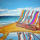 Beach Chair Reflection by gillsart