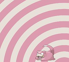 Pokemon - Slowpoke Circles iPad Case by Aaron Campbell
