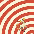Pokemon - Rapidash Circles iPad Case by Aaron Campbell
