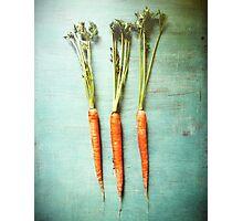 Three Carrots Photographic Print