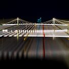 Night Time at Albert Bridge London by Suzanne Christian